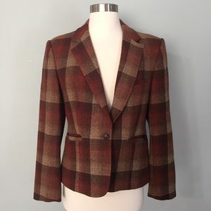 Evan Picone Plaid Wool Blazer
